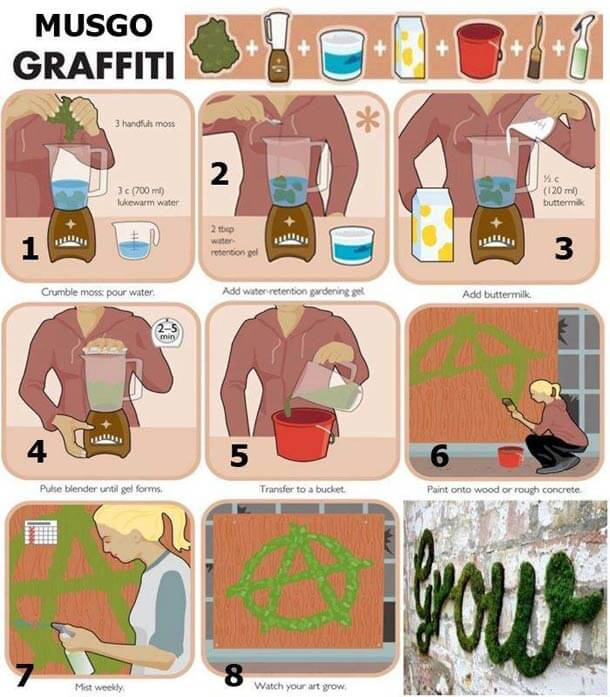 Infographie graffiti en mousse naturelle