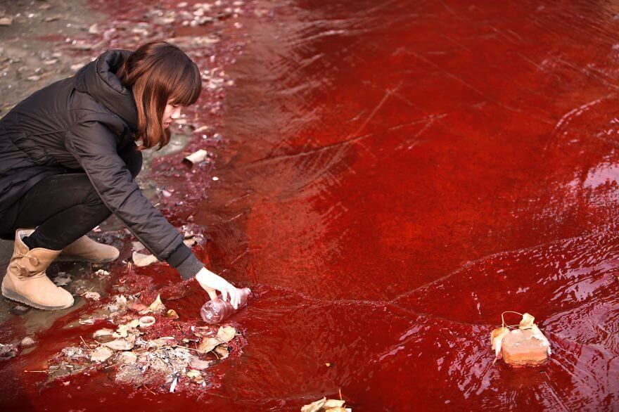 Photos pollution en Chine