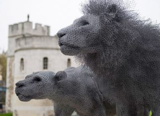 Kendra Haste, sculpture d'animaux en grillage