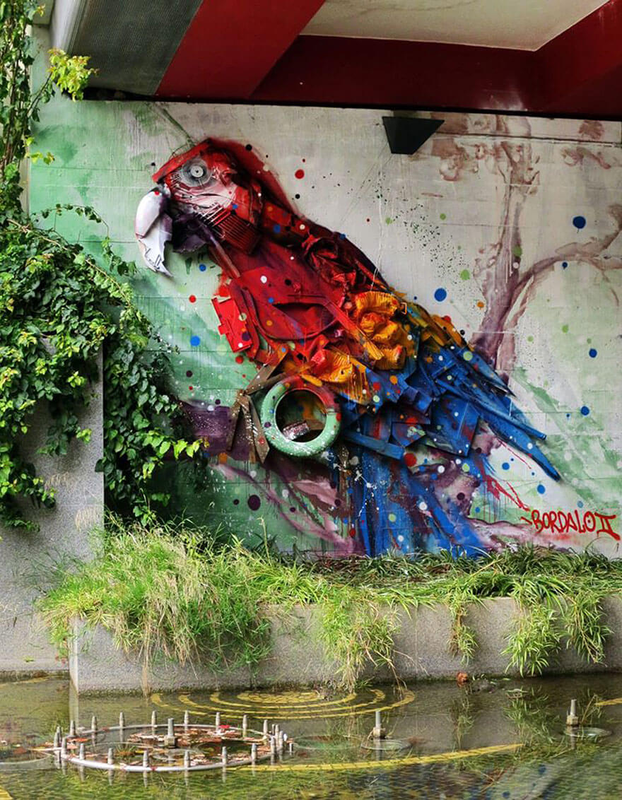 Bordalo II, sculptures ordures, trash art