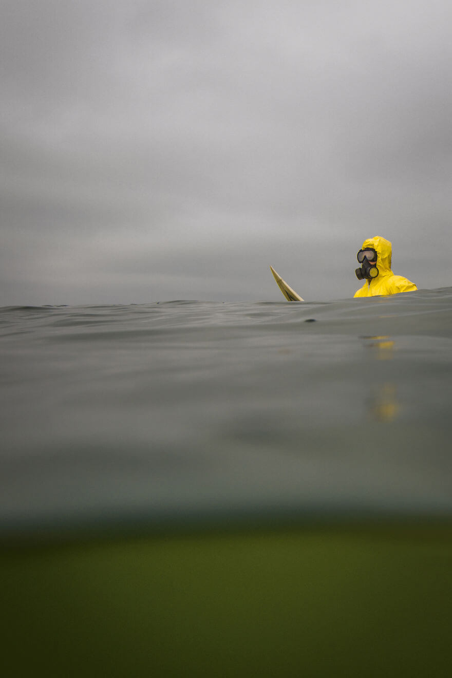 Hazmat Surfing, Michael Dyrland, pollution des océans