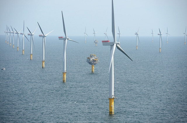 éolien offshore, UK