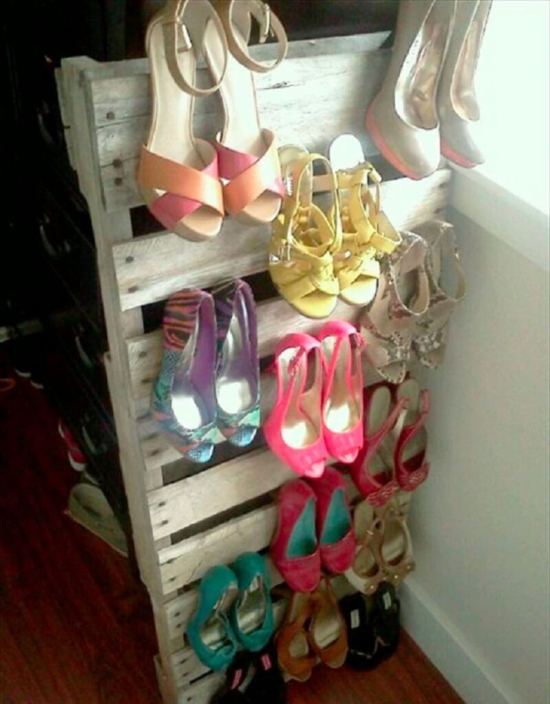 recyclage, palettes, bois-chaussure