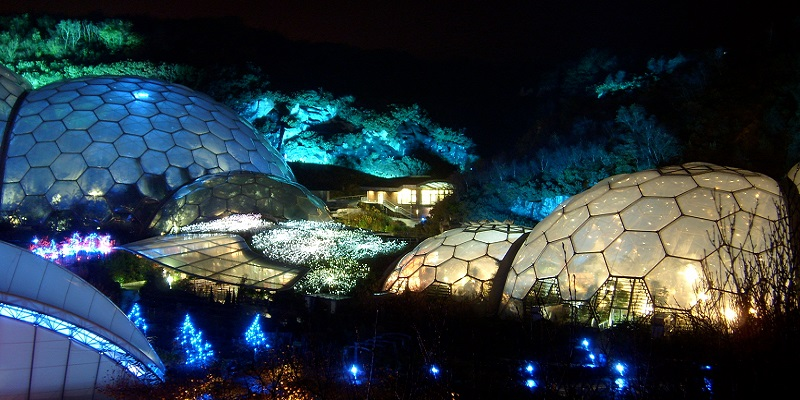 Eden Project, Parc artificiel, Nuit