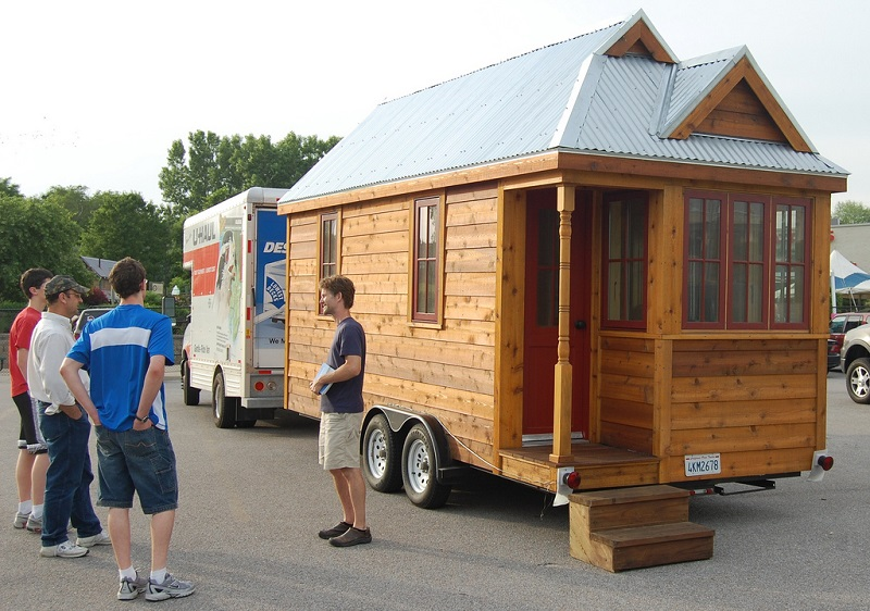Tiny House sur un parking